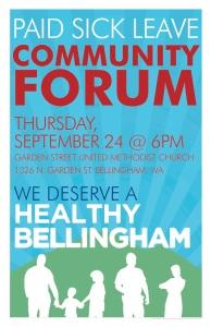 Bellingham paid sick leave Community Forum Leaflet 2015 copy